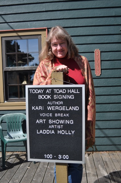 Voice Break Book Launch at Toad Hall in Yachats, Oregon, April 22, 2012