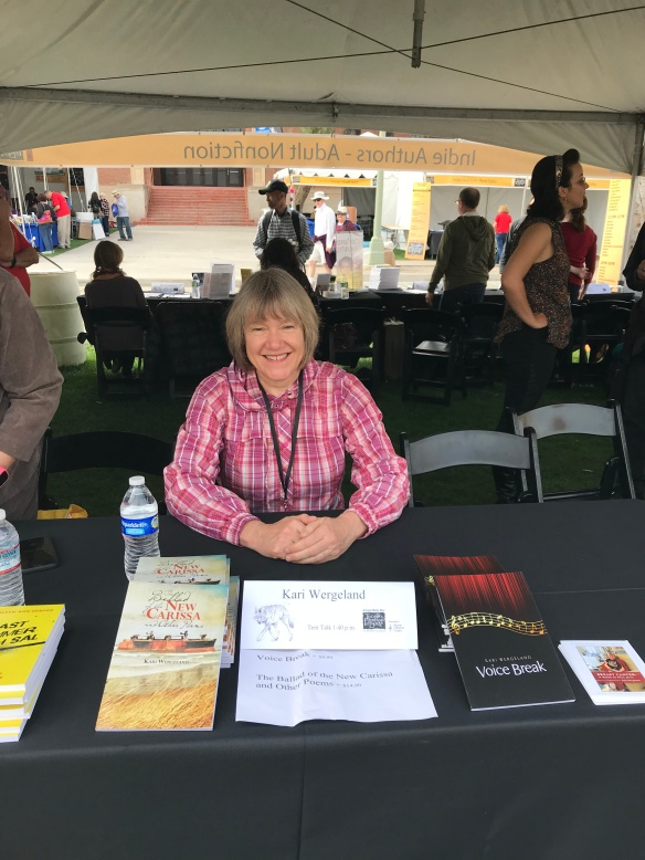 Promoting my work at the Tucson Festival of Books