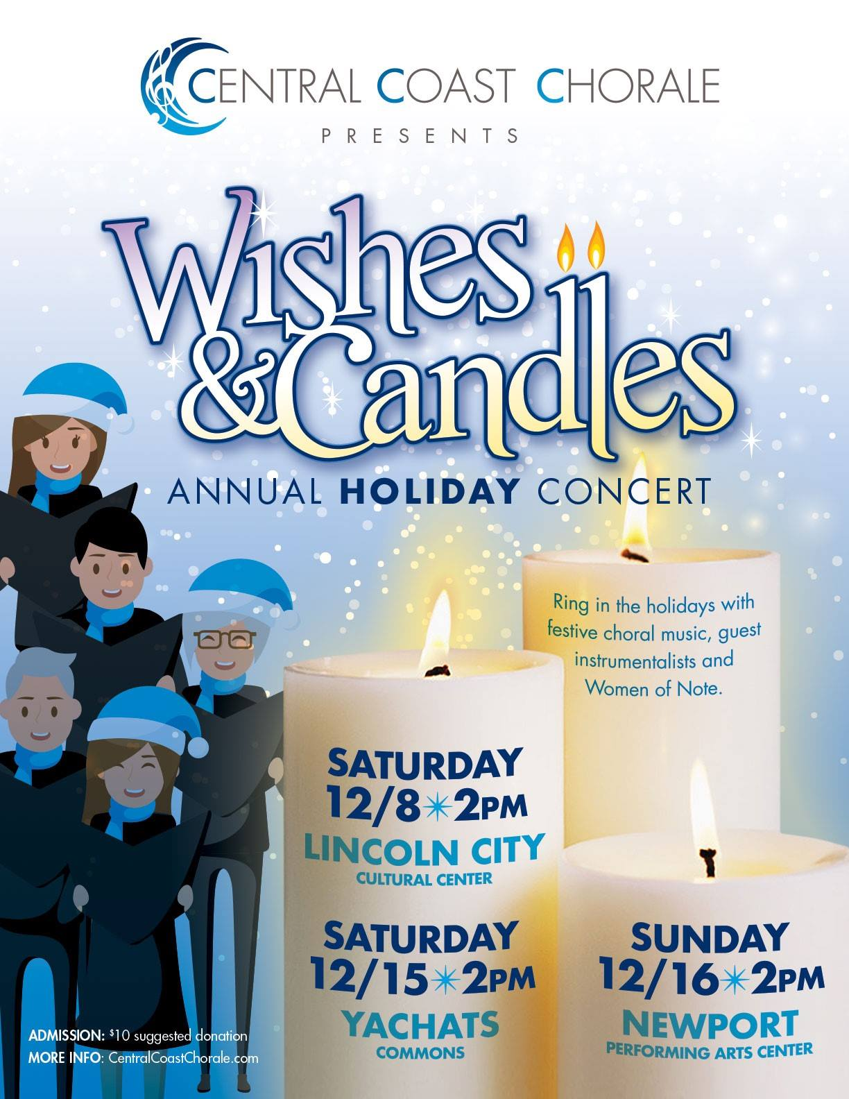 Wishes & Candles Annual Holiday Concert - Central Coast Chorale